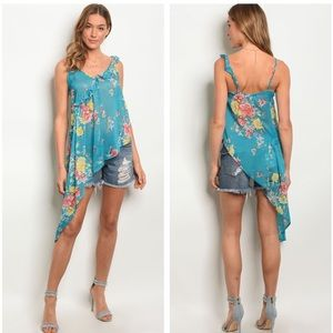 Tops - 5 for $100 Floral High Low Top